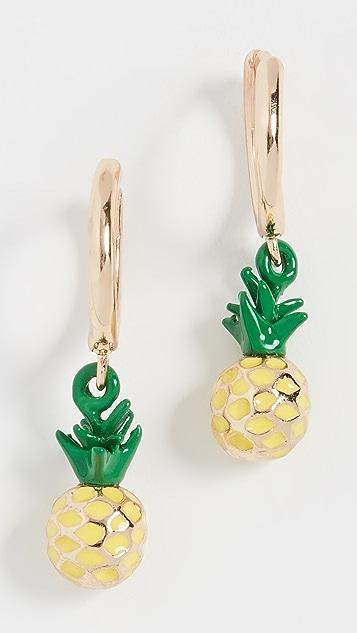 BaubleBar Серьги Clover с ананасами