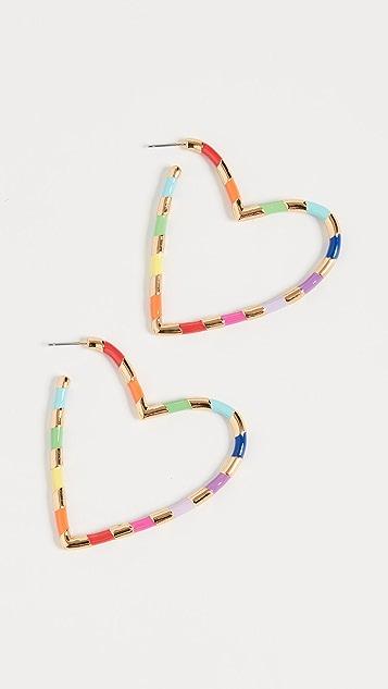 BaubleBar Annaelle Heart Hoop Earrings