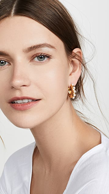 BaubleBar Claire Huggie Earrings