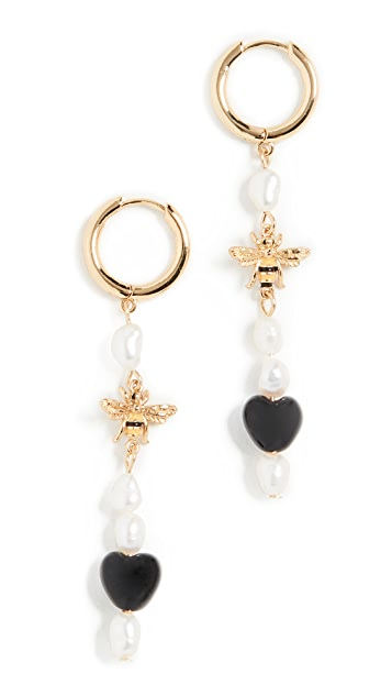 BaubleBar Pearl and Bee Delicate Drops