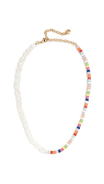 BaubleBar Pearl and Multi Beads Necklace