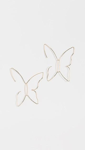 BaubleBar Изящные серьги-капли в виде бабочек
