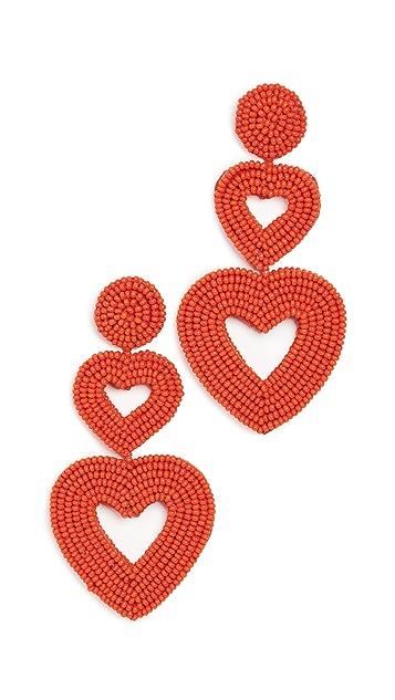 BaubleBar Крупные серьги-капли Double Hearts