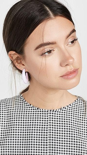 BaubleBar 圆形彩色圈式耳环
