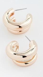 BaubleBar Havah Huggie Hoop Earrings