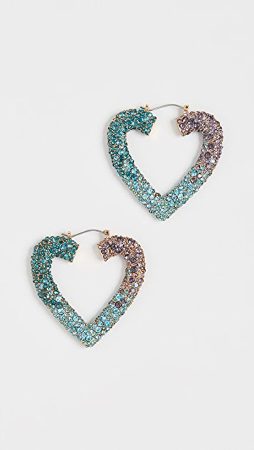 BaubleBar Heart Gem Hoops