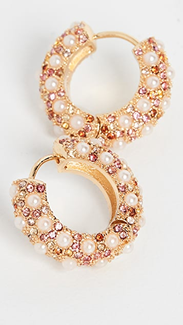 BaubleBar Small Imitation Biscay Pearl Huggie Hoops