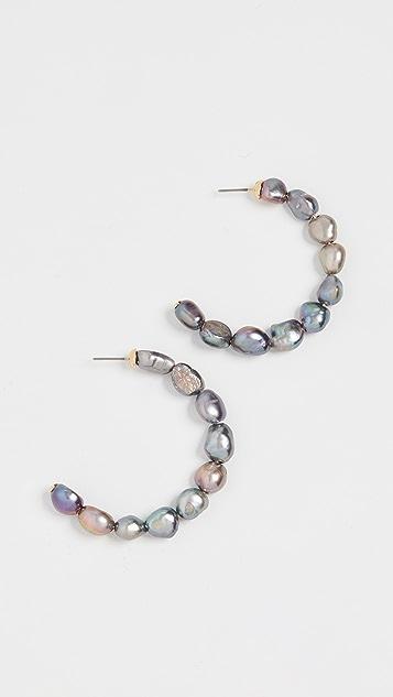 BaubleBar Dafina 珍珠圈式耳环