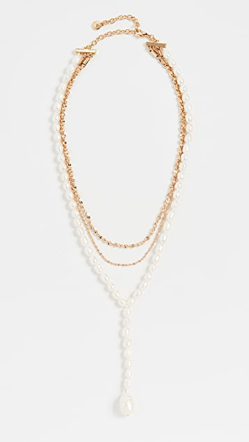 BaubleBar 珍珠 Y 形项链
