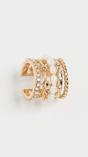 BaubleBar 人造珍珠和密镶耳骨夹