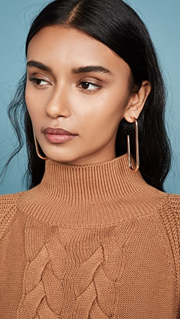 BaubleBar Troian Hoop Earrings