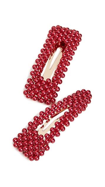 BaubleBar Scarlett 人造珍珠发夹套装