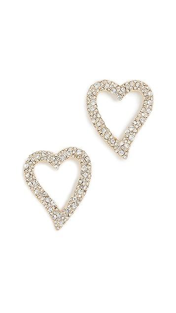 BaubleBar Curved Heart Stud Earrings