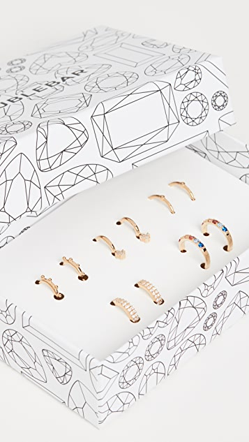 BaubleBar Liza 18K 贴耳圈式耳环礼品套装