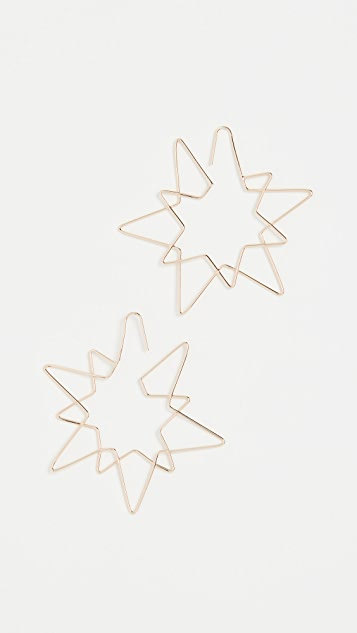 BaubleBar Star Wire Drop Earrings