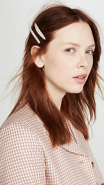 BaubleBar Pave Hair Clip Set of 2
