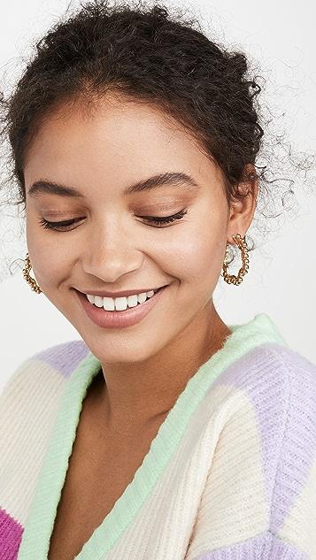 BaubleBar Gianna Hoop Earrings