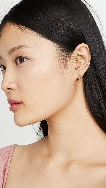 BaubleBar Helix Lobe Wrap Stud Earrings