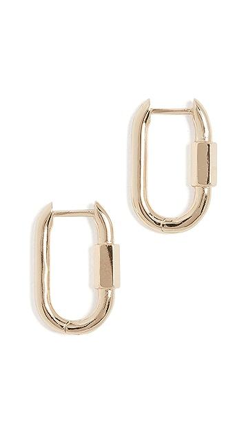 BaubleBar Utility Huggie Earrings