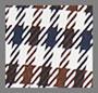 коричневый голубой с рисунком «гусиные лапки»