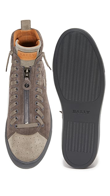 Bally Hekem Woven High Top Sneakers