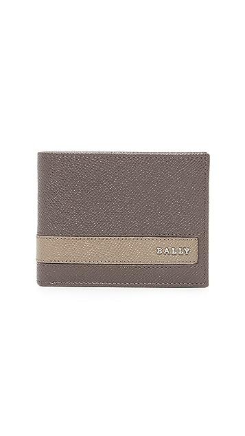 Bally Letrilt Stripe Bifold Wallet