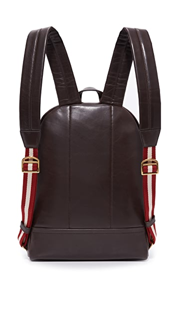 Bally Tiga Leather Backpack