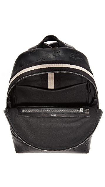 Bally Tiga Patch Leather Backpack