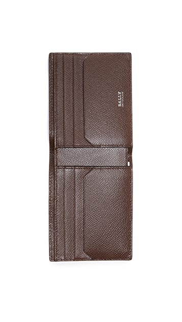 Bally Tevye Stripe Leather Wallet