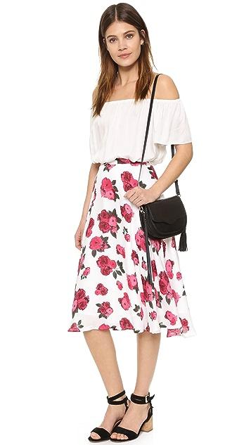 BB Dakota Ashley Summer Rose Printed Skirt