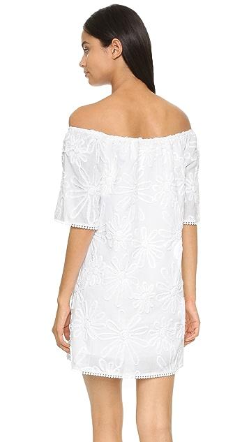 BB Dakota Marine Floral Off Shoulder Dress