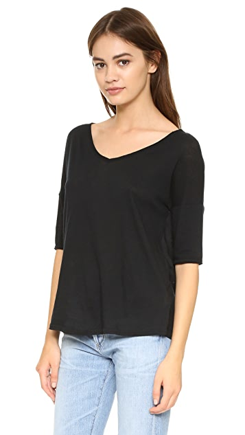 BB Dakota Oversized V Neck Tee