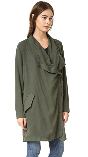 BB Dakota Carthy Drape Front Coat
