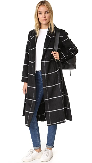 BB Dakota Braylee Plaid Midi Coat