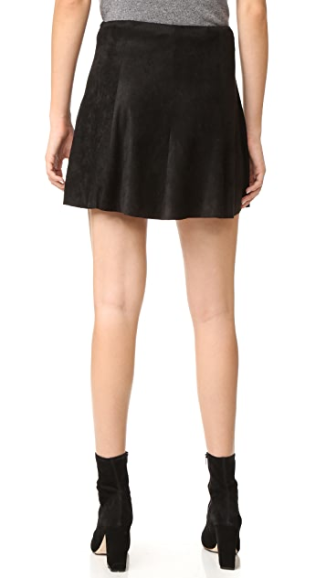 BB Dakota Kimber Faux Suede Skirt