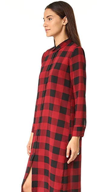 BB Dakota Dunkirk Buffalo Plaid Shirtdress