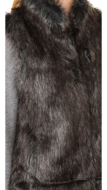BB Dakota Colton Faux Fur Vest