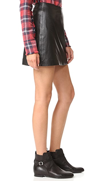 BB Dakota Brucie Leather Miniskirt