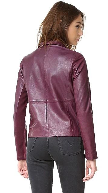 BB Dakota Newell Washed Leather Jacket
