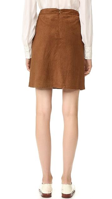 BB Dakota Belfort Faux Suede Skirt