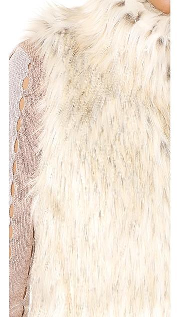 BB Dakota Brewer Faux Fur Vest