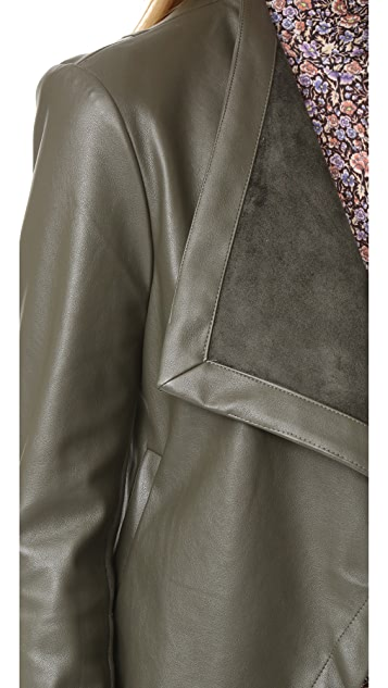 BB Dakota Peppin Drape Front Jacket