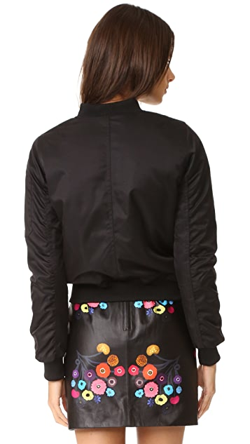 BB Dakota Atwood Satin Bomber Jacket