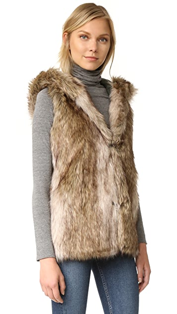 BB Dakota Gerrard Coat with Faux Fur