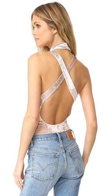 BB Dakota Hatherley Crushed Velvet Bodysuit