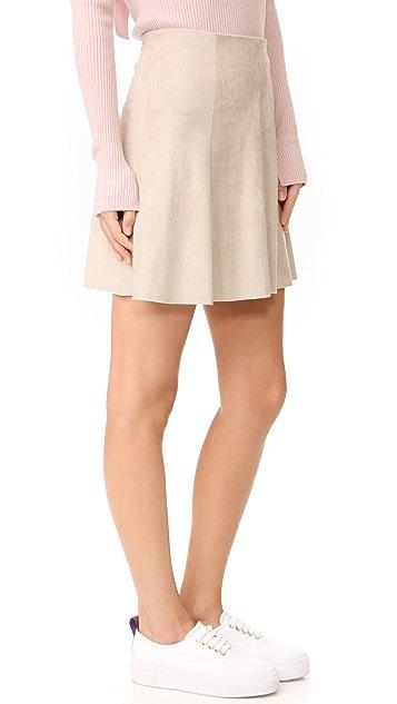 BB Dakota Caswell Faux Suede Skirt