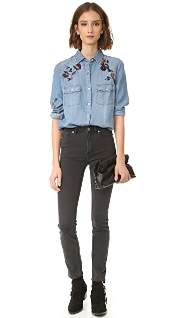 BB Dakota Trent Floral Embroidered Shirt