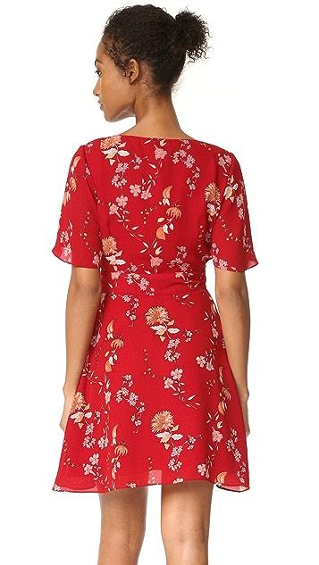 BB Dakota Laselle Cherry Blossom Printed Wrap Dress