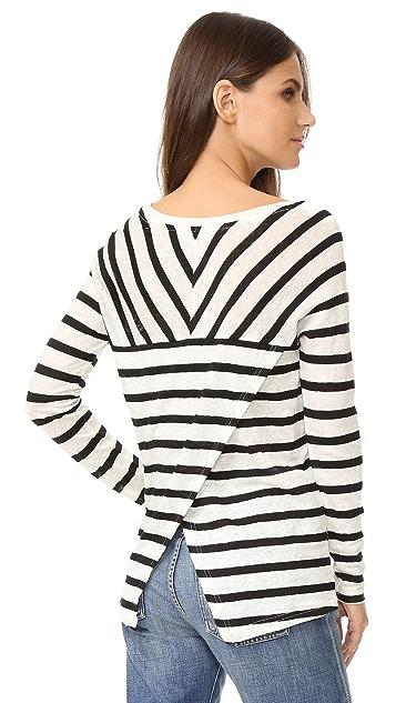 BB Dakota Merel Striped Long Sleeve Tee