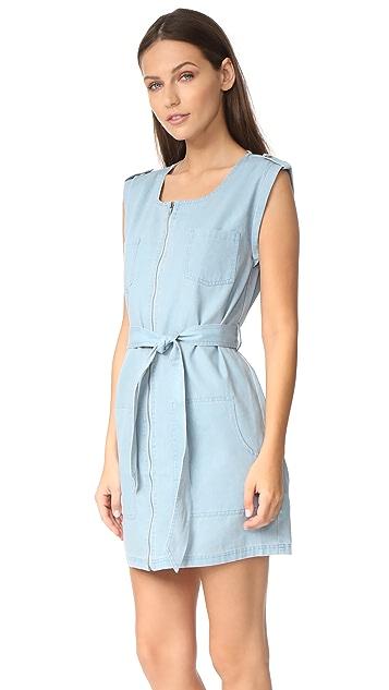 BB Dakota Jack by BB Dakota Stefania Chambray Zip Front Dress
